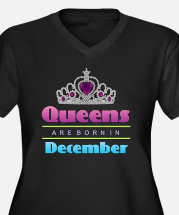 Queens are Born In December Plus Size T-Shirt