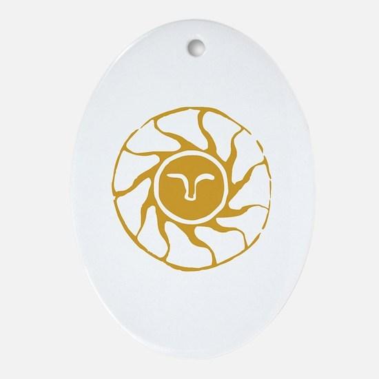 Cute Praise Oval Ornament