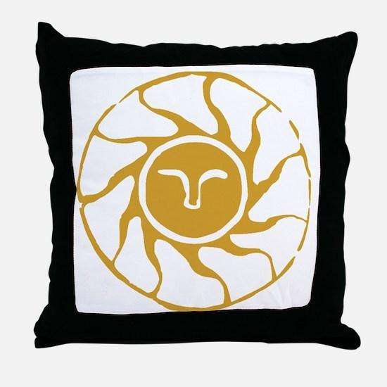 Cool Bonfire Throw Pillow