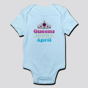 Queens are Born In April Body Suit
