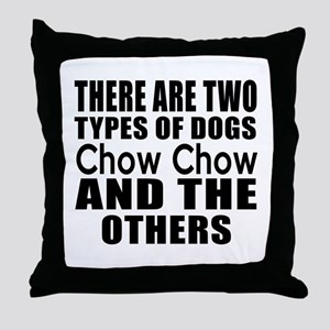 There Are Two Types Of Chow Chow Dogs Throw Pillow