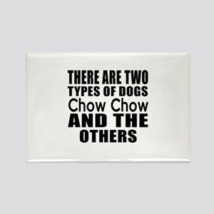 There Are Two Types Of Chow Chow Rectangle Magnet