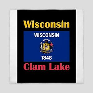 Clam Lake Wisconsin Queen Duvet