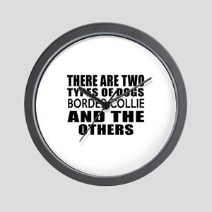 There Are Two Types Of Border Collie Do Wall Clock