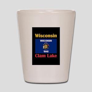 Clam Lake Wisconsin Shot Glass