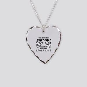 This is what an Muay Thai Fig Necklace Heart Charm
