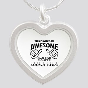 This is what an Muay Thai Fi Silver Heart Necklace