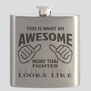 This is what an Muay Thai Fighter looks like Flask