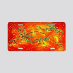 Dragonfly Fire Aluminum License Plate