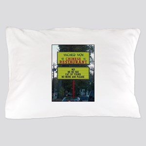 WICKED WOK - CHINESE RESTAURANT SIGN. Pillow Case