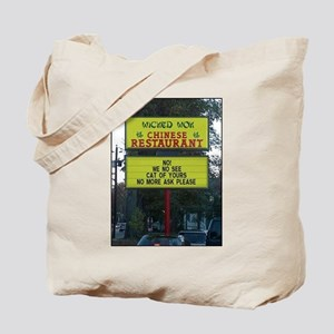 WICKED WOK - CHINESE RESTAURANT SIGN. Tote Bag