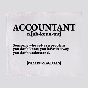 ACCOUNTANT NOUN Throw Blanket