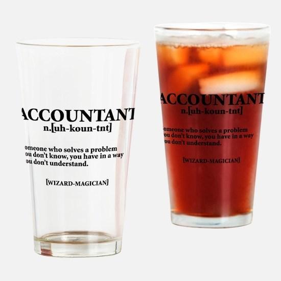ACCOUNTANT NOUN Drinking Glass
