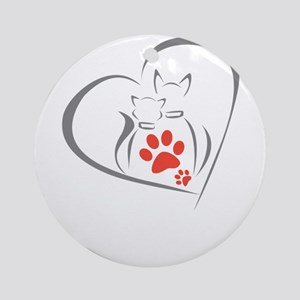 i love pets Round Ornament