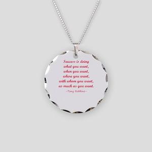 Tony Robbin quotes Necklace Circle Charm