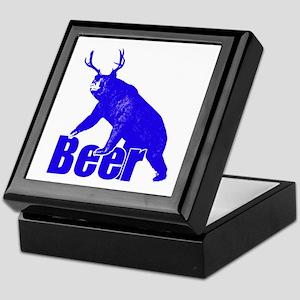 Beer fun blue Keepsake Box