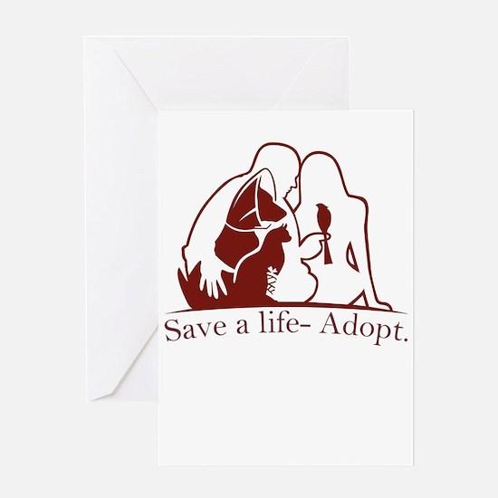 save a life - adopt Greeting Cards