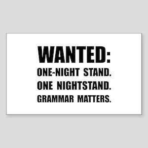Nightstand Grammar Sticker