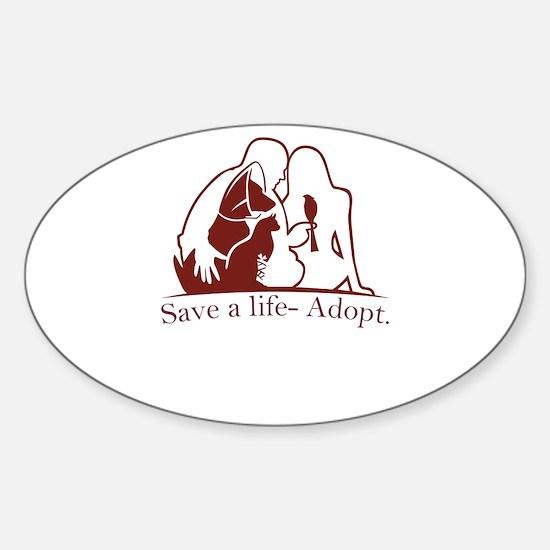 save a life - adopt Decal