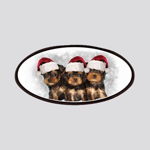 Christmas Yorkshire Terriers Patch