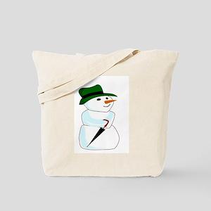 The Happy Snowman Tote Bag