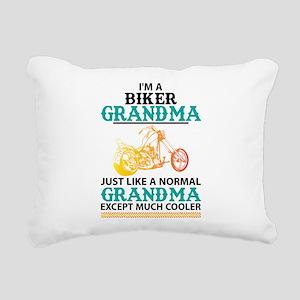 Biker Grandma... Rectangular Canvas Pillow