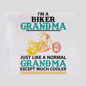 Biker Grandma... Throw Blanket