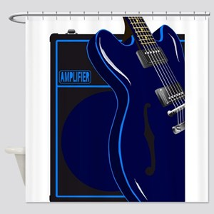 Blues Guitar And Amplifier Shower Curtain