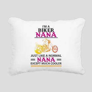 Biker Nana... Rectangular Canvas Pillow