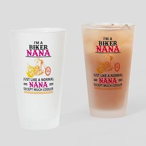 Biker Nana... Drinking Glass