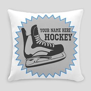 Hockey Sticker Everyday Pillow