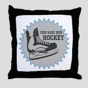 Hockey Sticker Throw Pillow
