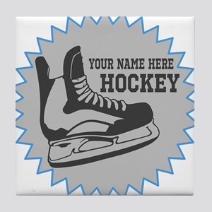 Hockey Sticker Tile Coaster