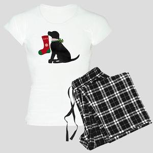 Christmas Black Lab Preppy Dog Pajamas
