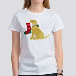 Christmas Retriever Preppy Dog Women's T-Shirt