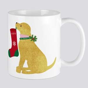 Christmas Retriever Preppy Dog Mug