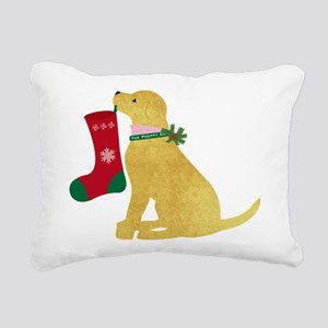 Christmas Retriever Prep Rectangular Canvas Pillow