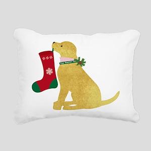 Christmas Retriever Prep Rectangular Canvas Pillow