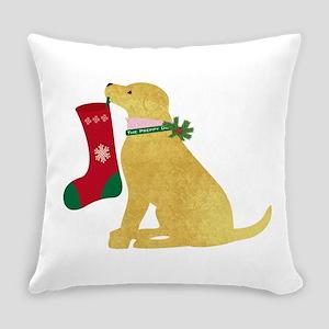 Christmas Retriever Preppy Dog Everyday Pillow