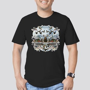 Life outside Men's Fitted T-Shirt (dark)