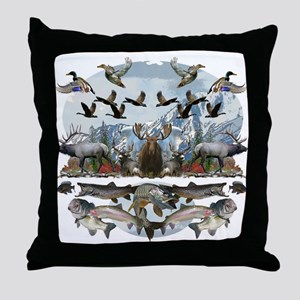 Life outside Throw Pillow