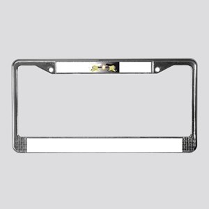 Black and White Guitars License Plate Frame