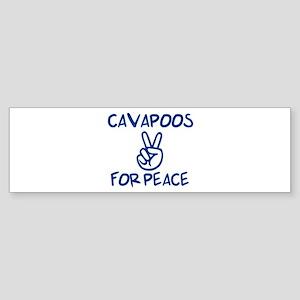 Cavapoos for Peace Bumper Sticker