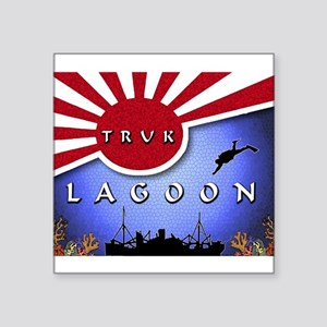 Truk Lagoon Wreck Diver Origi Rectangle Sticker