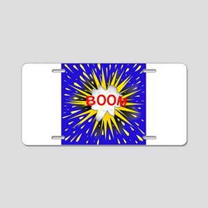Boom Cartoon Bubble Aluminum License Plate