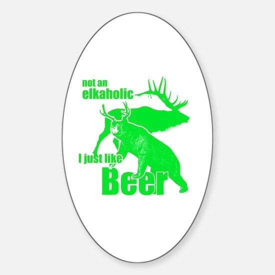 Funny Black elk Sticker (Oval)