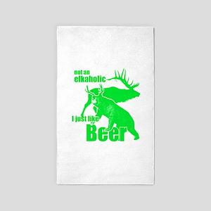 Elkaholic beer Area Rug