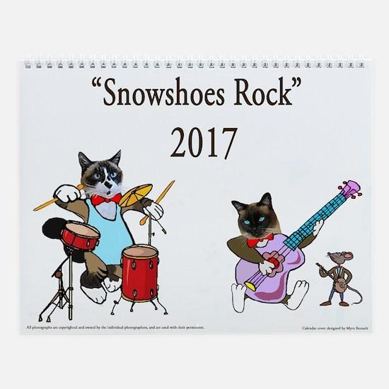 Snowshoes Rock 2017 Wall Calendar