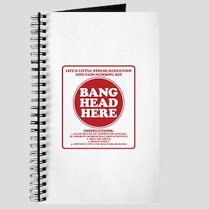 Bang Head Here Stress Reduction Kit Journal