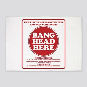 Bang Head Here Stress Reduction Kit 5'x7'Area Rug